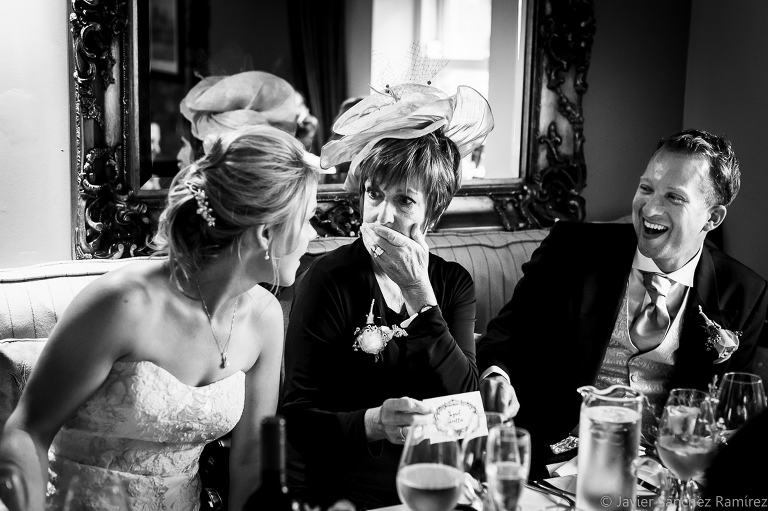 The bride, her mother and the best man. Wedding humour.