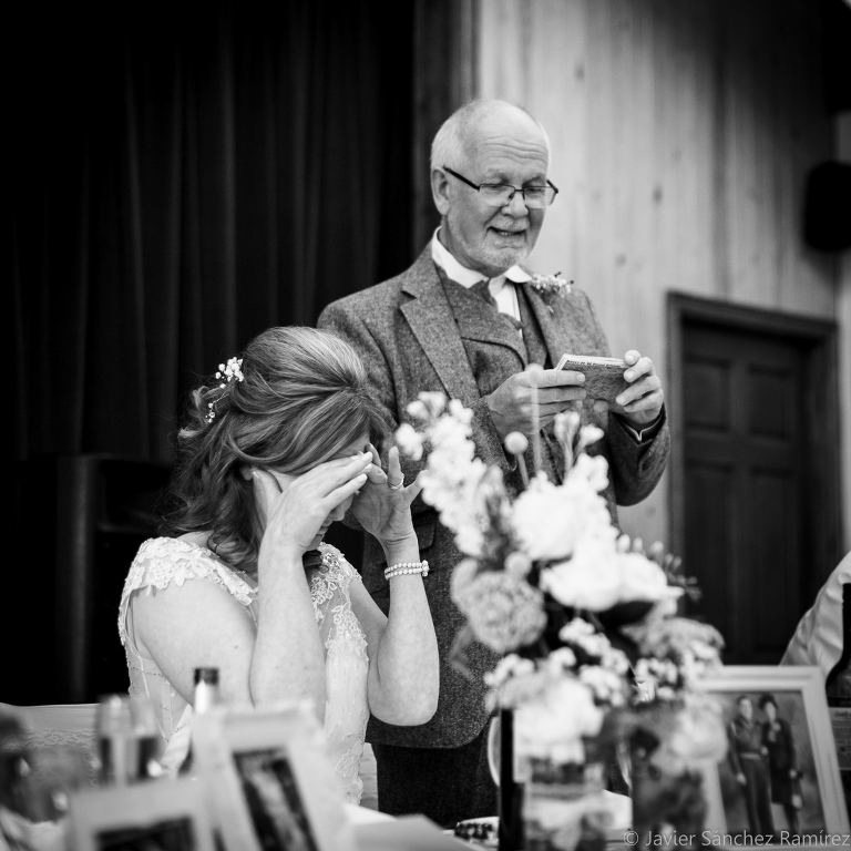 Father of the bride wedding speech by Harrogate wedding photographer.