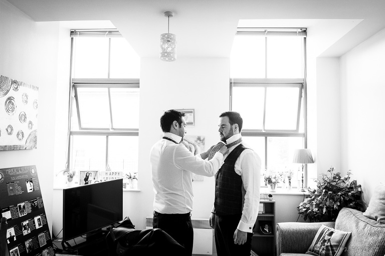 The groom and the best getting ready