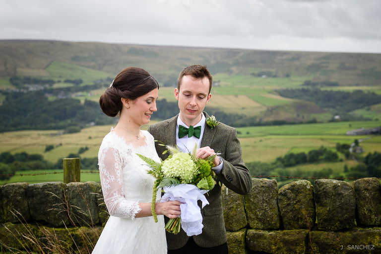 The bride and groom at the calderdale